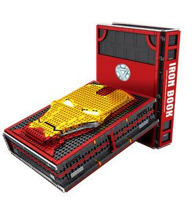 Пользовательские Железный Человек Железный книга мемориальный зал доспехов с Minifigures строительные блоки комплект игрушки