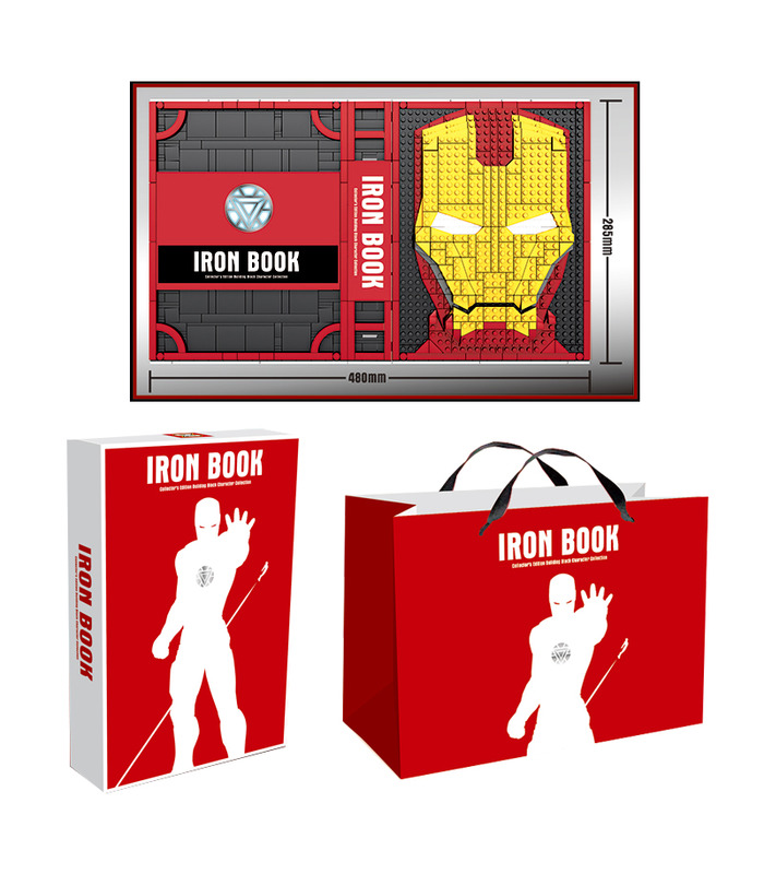 Custom Iron Man Iron Book Memorial Hall of Armor With Minifigures Building Blocks Toy Set