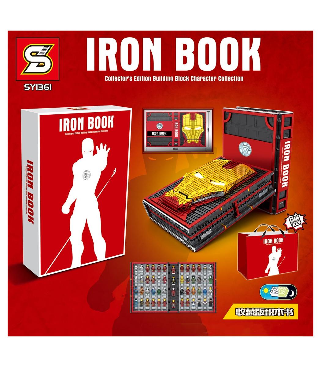 Marvel Avengers Iron Man 52 Figures collection book Building Blocks Bricks Toys