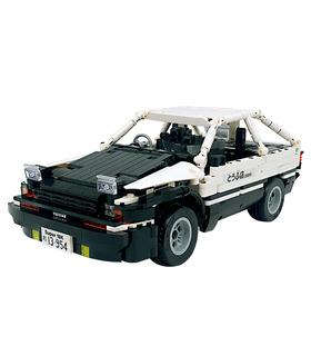 Benutzerdefinierte Initial D Toyota AE86 Auto mit Power Function Bausteine Toy Set 965 Stück