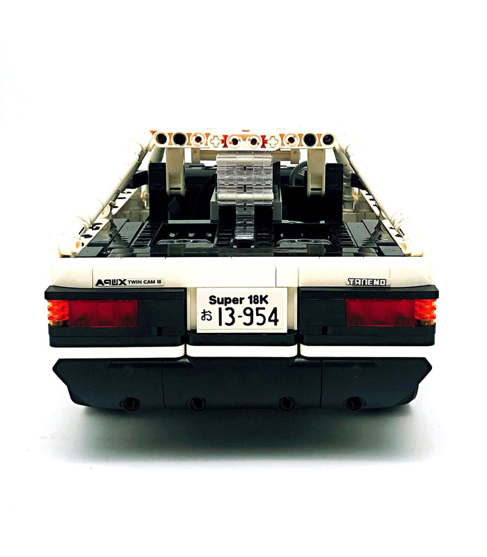 Custom Initial D Toyota AE86 Car With Power Function Building Blocks Toy Set 965 Pieces