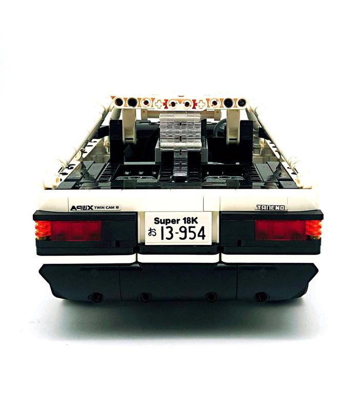 Personalizado Inicial D Toyota AE86 Coche Con la Función de Potencia de Bloques de Construcción de Juguete Set 965 Piezas