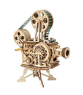 ROKR Puzzle en 3D Proyector de Cine Vitascope Edificio de Madera de Juguete de Kit de