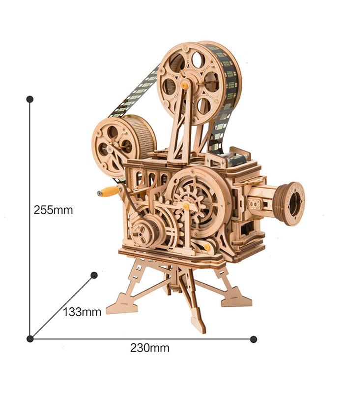 ROKR 3D-Puzzle-Filmprojektor Vitascope Wooden Building Toy Kit