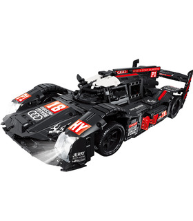 Custom Audi R18 Super Racing Car MOC Building Bricks Toy Set 1928 Pieces
