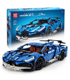 MOLDE REY 13125 Bugatti Divo Super Coche Deportivo de Bloques de Construcción de Juguete Set