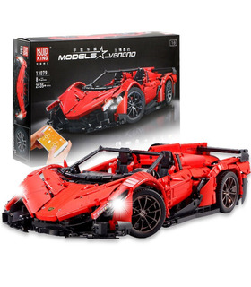 SCHIMMEL KÖNIG 13079 Lamborghini Veneno Sportwagen-Fernbedienung Building Blocks Spielzeug-Set