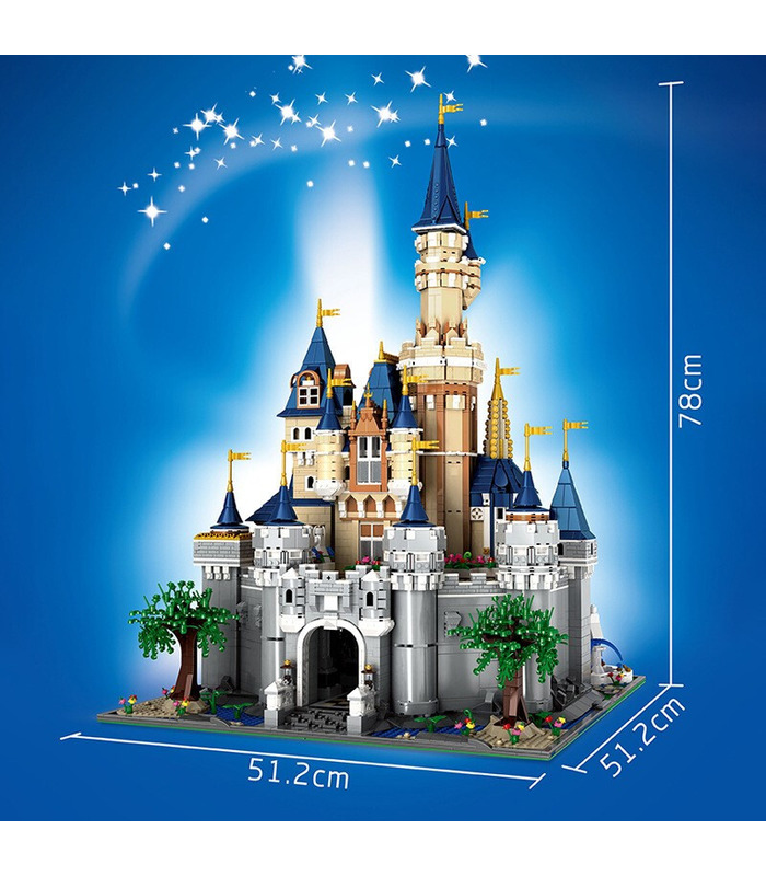 MOULD KING 13132 Paradise Disney Castle MOC Building Blocks Toy Set