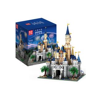 MOLDE REY 13132 Paraíso de Disney Castillo MOC Bloques de Construcción de Juguete Set