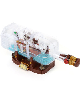 Custom Ideas Ship in a Bottle Building Bricks Toy Set 1078 Pieces