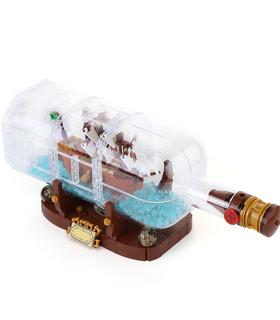 Custom Ideas Ship in a Bottle Building Bricks Toy Set 1078 Pieces