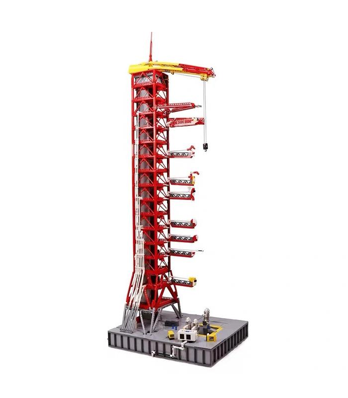 カスタムJ79002アポロサターンV型発射台タワー建物の煉瓦玩具セット3561個
