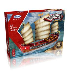 XINGBAO 25001 Kantonesisch Galeone Segelboot Bausteine Spielzeug-Set