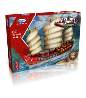 XINGBAO 25001 Kantonesisches Galeonen-Segelboot-Baustein-Spielzeugset