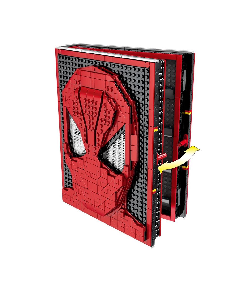 Custom Marvel Universe Minifigure on lego bricks Spider-Man