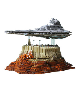 Custom Star Destroyer Empire Over Jedha City Star Wars Building Bricks Toy Set 5098 Pieces