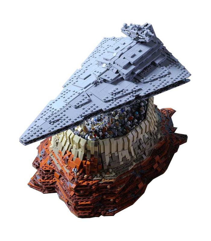Benutzerdefiniertes Sternenzerstörer-Imperium über Jedha City Star Wars Bausteine Spielzeugset 5098 Teile