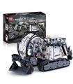 Mold King 13130 Technologie Liebherr Terex RH400 Bagger Fernbedienung Bausteine Spielzeugset