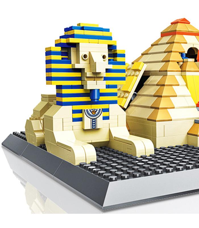 WANGE Architecture Egyptian Pyramids of Giza Egypt Building 4210 Building Blocks Toy Set