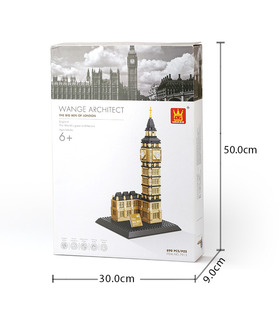 WANGE Architektur Big Ben Elizabeth Tower 4211 Building Blocks Spielzeug-Set