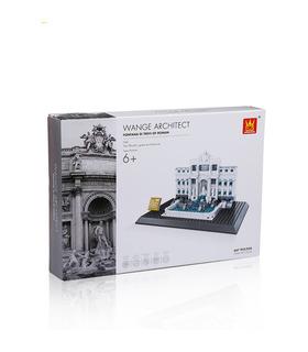 WANGE Architektur Fontana di Trevi Gebäude 4212 Building Blocks Spielzeug-Set