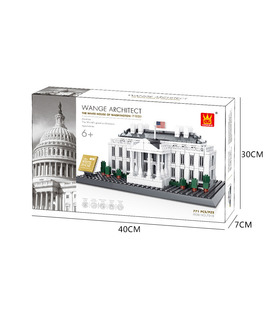WANGE Architektur Washington White House 4214 Building Blocks Spielzeug-Set