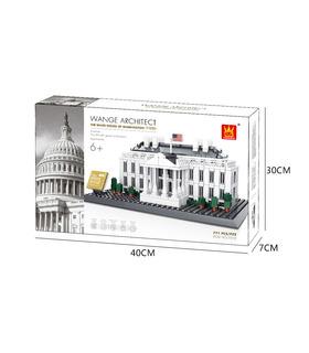 WANGE建築ワシントンホワイトハウス4214ビルブロック玩具セット