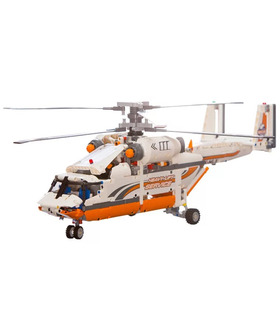 Custom Heavy Lift Helicopter Building Bricks Toy Set 1040 Pieces