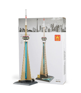 WANGE Architektur der CN-Tower in Toronto Kanada Bau-4215-Building Blocks Spielzeug-Set