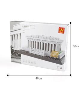 WANGE архитектуры Мемориал Линкольна строительство Строительство 4216 комплект блоки игрушки