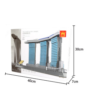WANGE Architektur Sands Hotel Singapur 4217 Building Blocks Spielzeug-Set