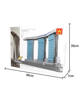 WANGE архитектура отеля Сэндс Сингапур 4217 строительные блоки комплект игрушки