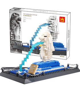 WANGE Architecture Singapore Merlion Statue 4218 Building Blocks Toy Set