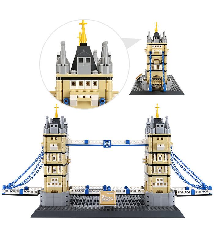 WANGE архитектура Тауэрский мост Лондон 4219 строительные блоки комплект игрушки