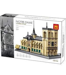 WANGE Architecture Notre Dame Cathedral Notre-Dame de Paris 5210 Building Blocks Toy Set