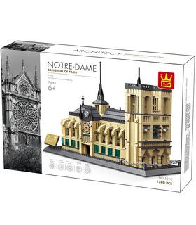 WANGE de l'Architecture de la Cathédrale Notre-Dame Notre-Dame de Paris 5210 Blocs de Construction Jouets Jeu