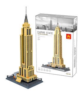 Архитектура WANGE Эмпайр стейт билдинг здания 5212 блоки игрушка комплект