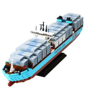 Benutzerdefinierte Maersk Line Triple-E Bausteine Spielzeug-Set 1518 Stücke