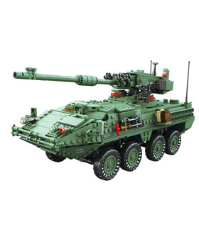 KAZI The Stryker MGS-M1128 Tank Building Blocks Toy Set