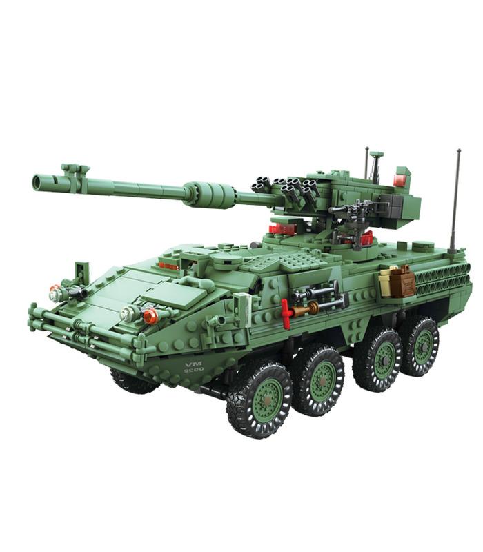 KAZI The Stryker MGS-M1128 Tank Building Blocks Toy Set