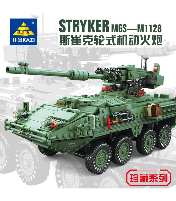 KAZI The Stryker MGS-M1128 Mobile Gun System Tank Building Blocks Toy Set