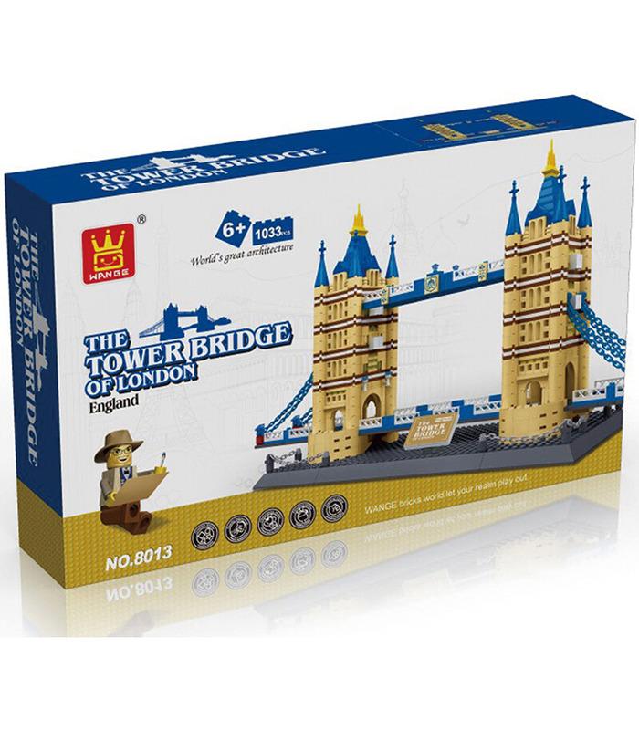 WANGE архитектура Тауэрский мост 5215 строительные блоки комплект игрушки