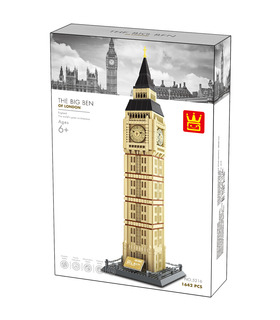 WANGE Architecture Big Ben the Great Bell 5216 Building Blocks Toy Set