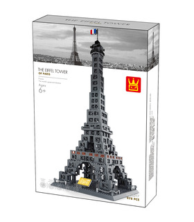 WANGE Architektur Eiffel Tower 5217 Building Blocks Spielzeug-Set