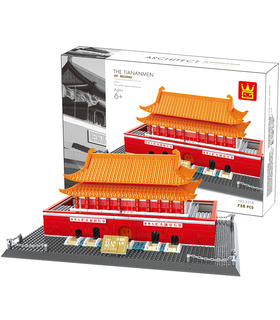 WANGE Architecture The Beijing Tiananmen Square 5218 Building Blocks Toy Set