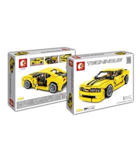 Sembo 701504 Bumblebee Camaro Building Blocks Spielzeug-Set