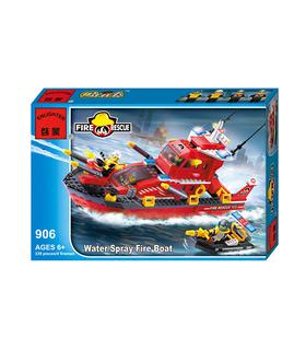 ENLIGHTEN 906 Water Spray Fire Boat Building Blocks Spielzeug-Set