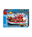 ENLIGHTEN 906 Water Spray Fire Boat Building Blocks Toy Set