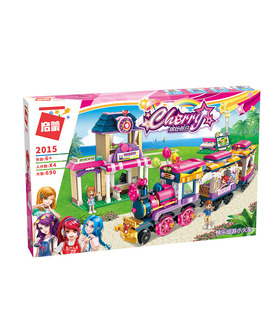 Просветите 2015 счастливые Маленький поезд строительные блоки комплект игрушки