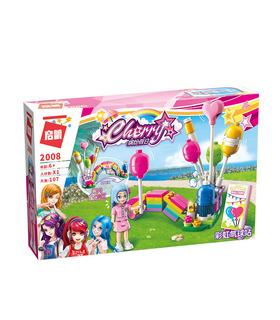 啓発2008年虹のバルーンブースのビルブロック玩具セット